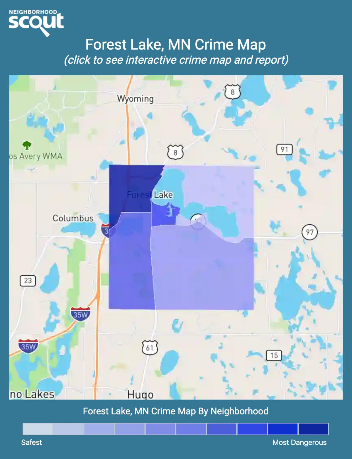 Forest Lake, Minnesota crime map