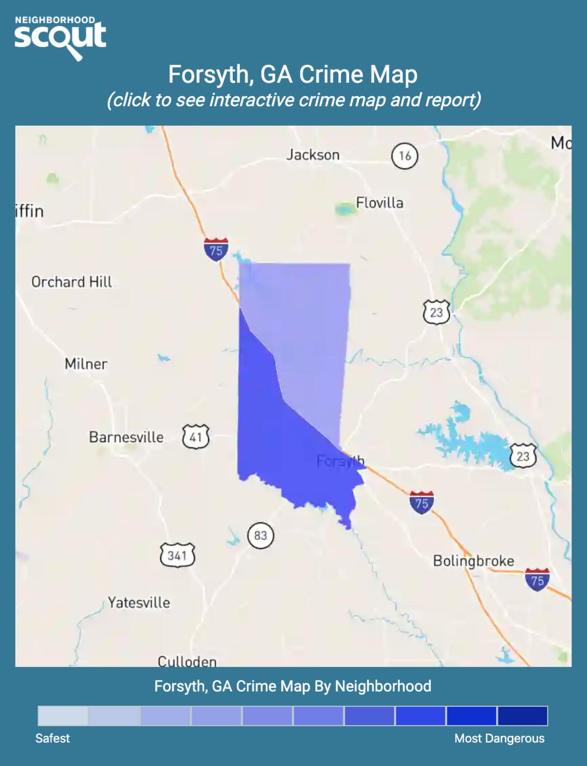 Forsyth, Georgia crime map