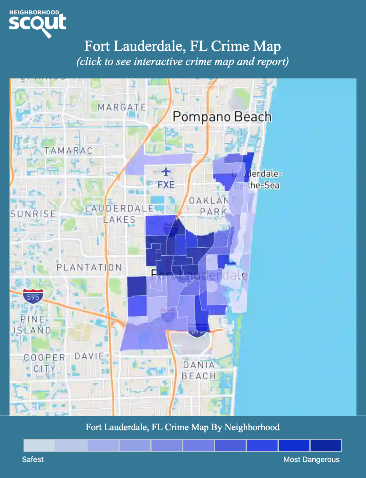 Fort Lauderdale, Florida crime map