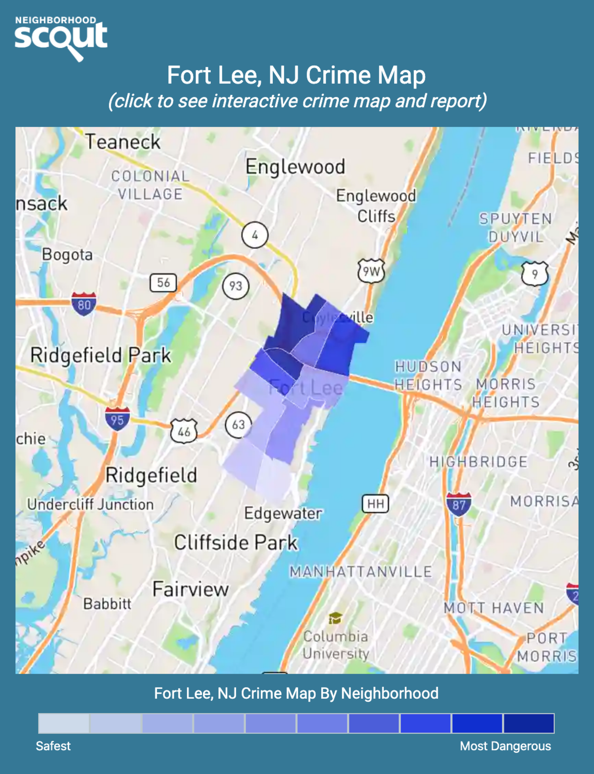 Fort Lee, New Jersey crime map