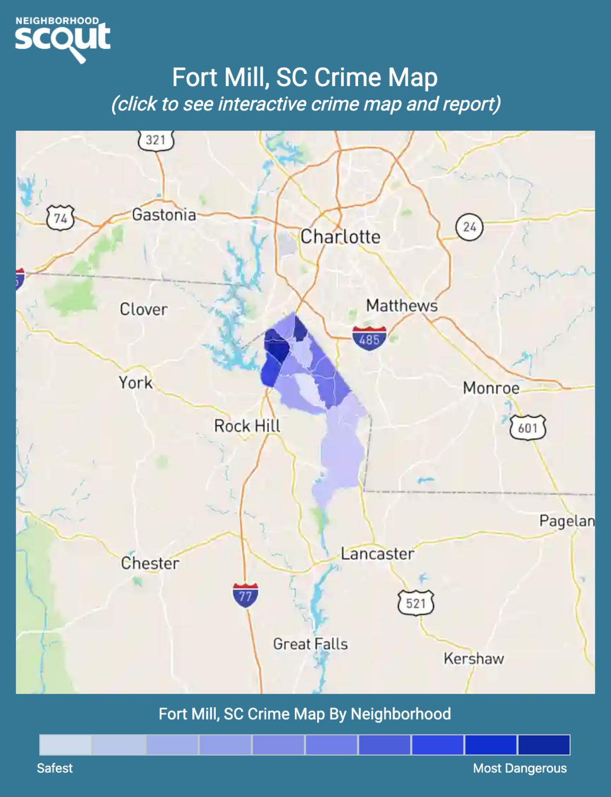Fort Mill, South Carolina crime map