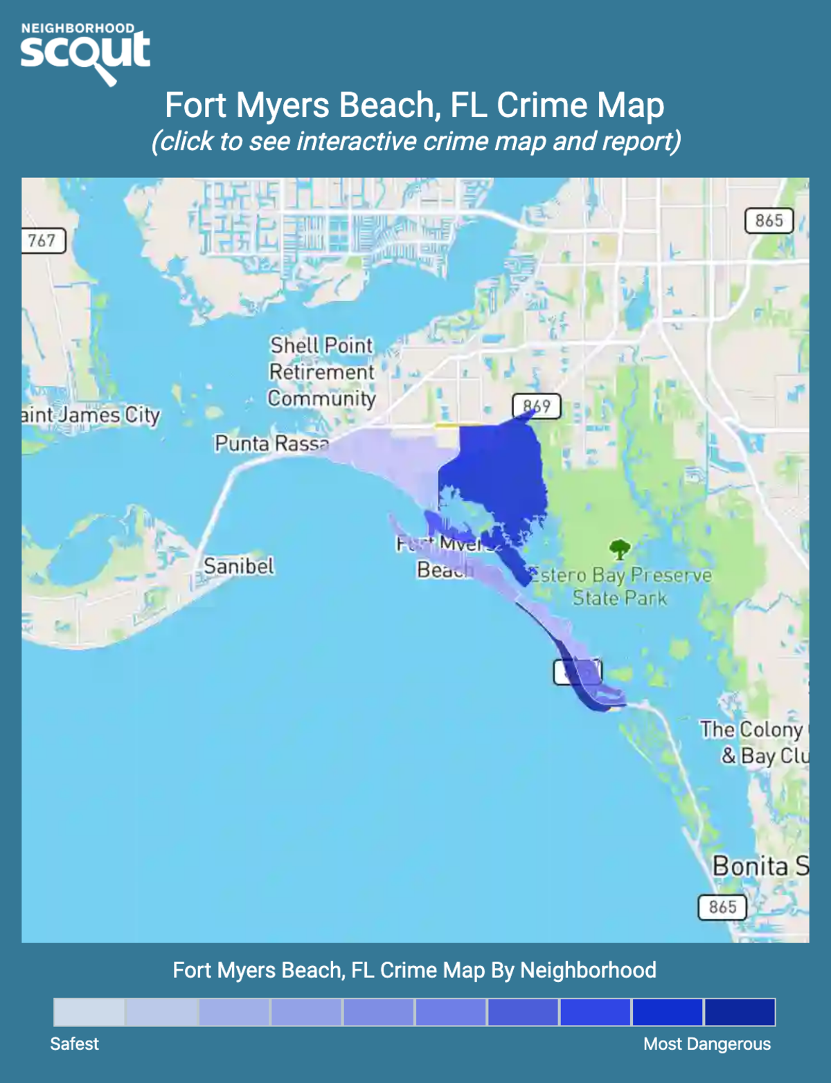 Fort Myers Beach, Florida crime map