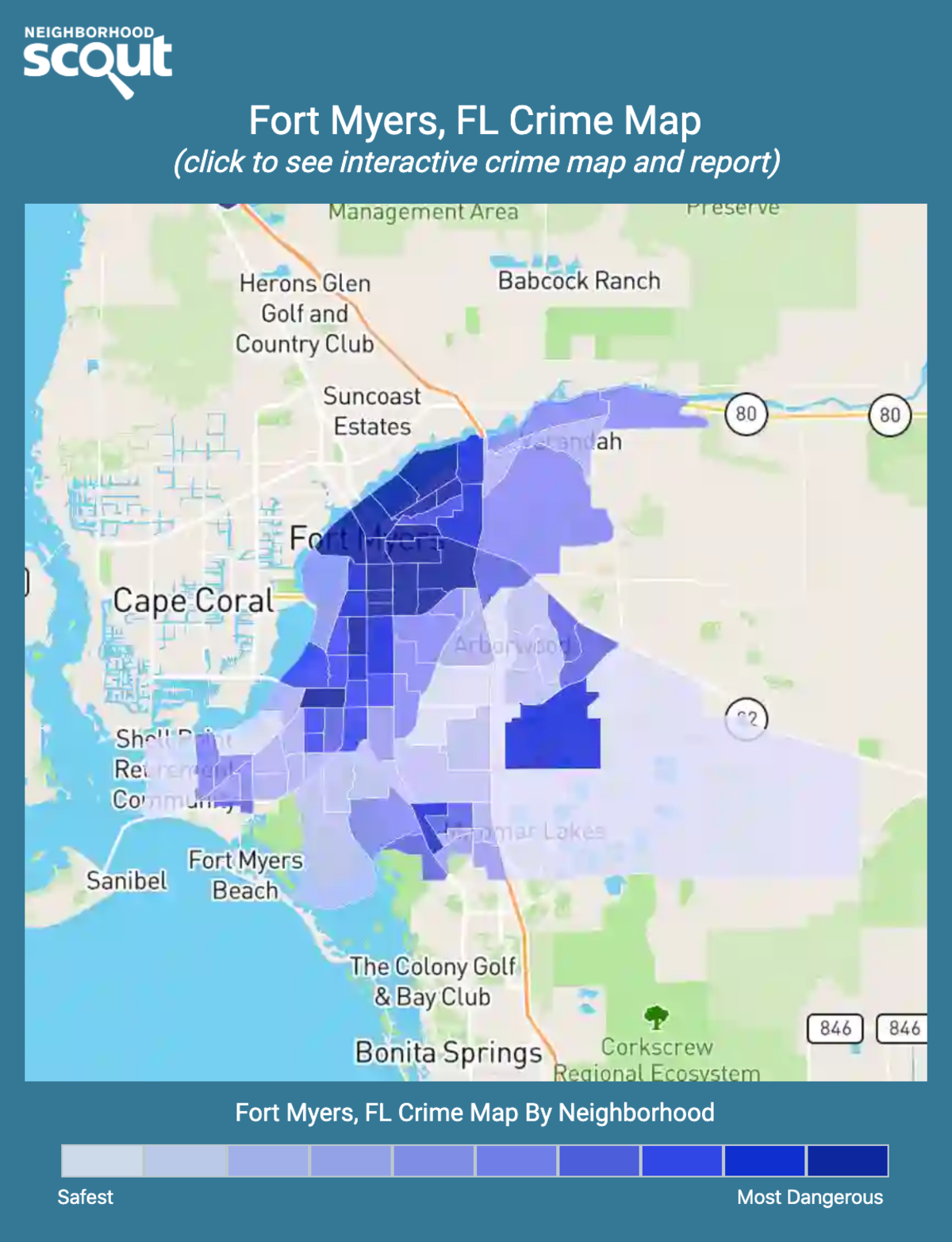 Fort Myers, Florida crime map