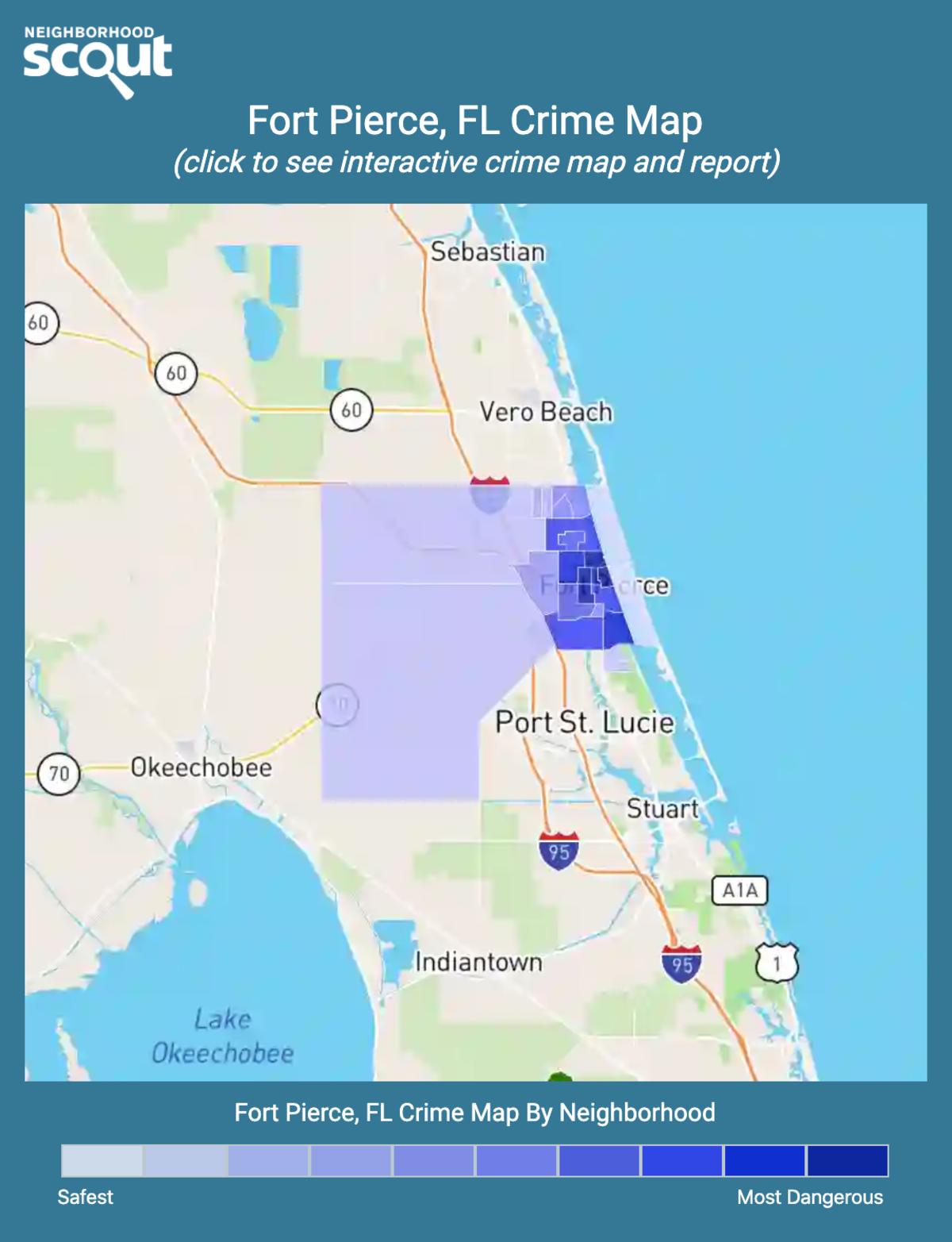 Fort Pierce, Florida crime map