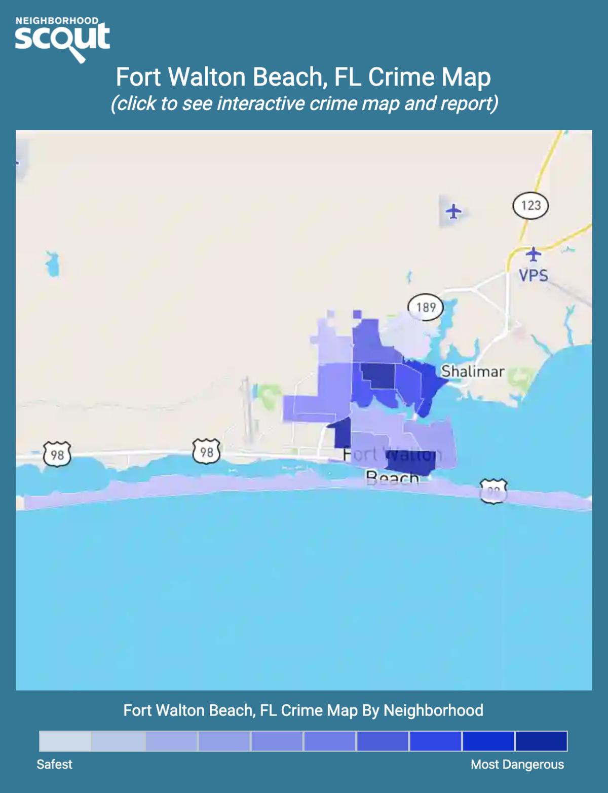 Fort Walton Beach, Florida crime map