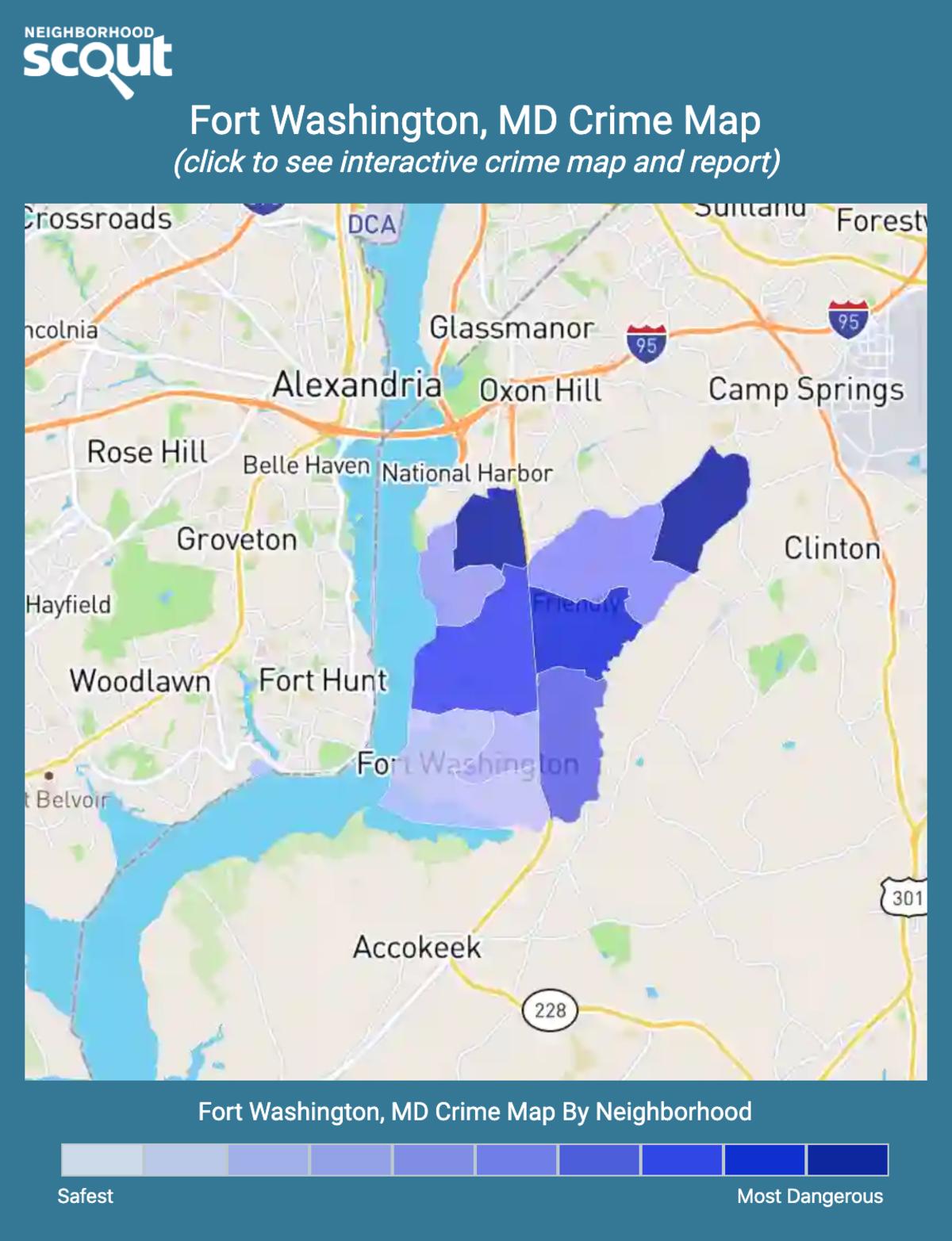 Fort Washington, Maryland crime map