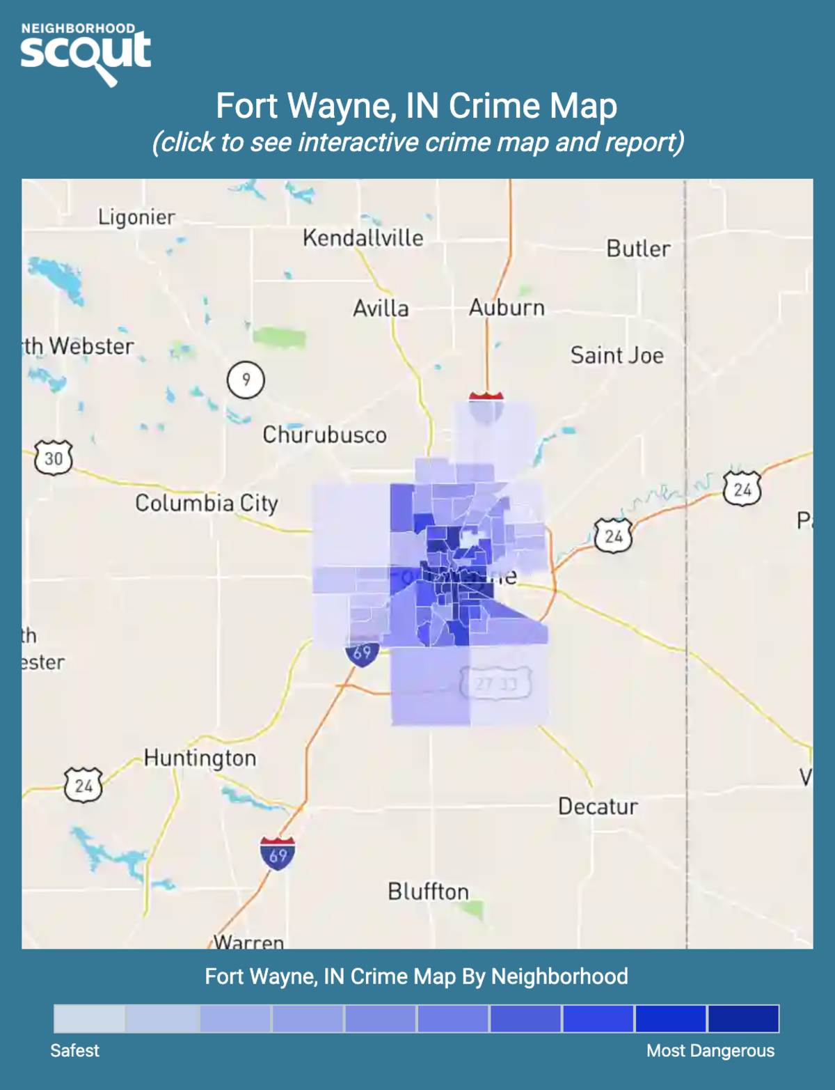 Fort Wayne, Indiana crime map
