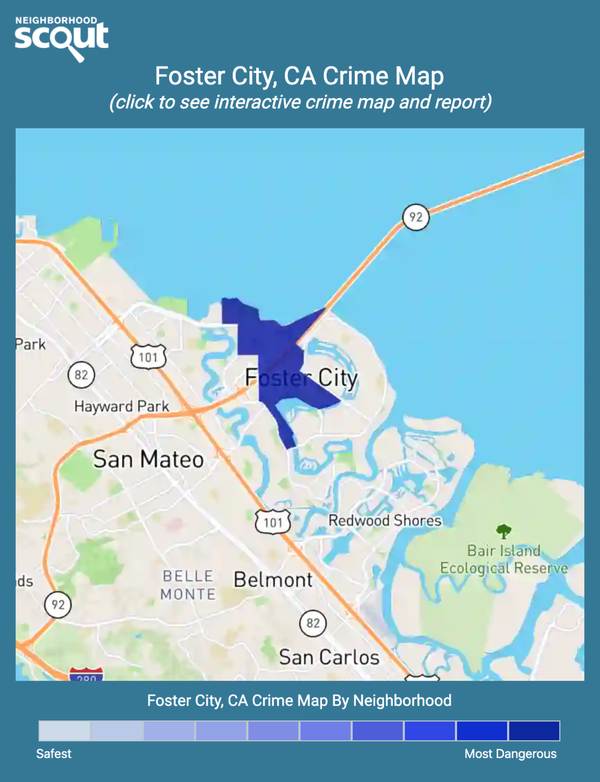 Foster City, California crime map
