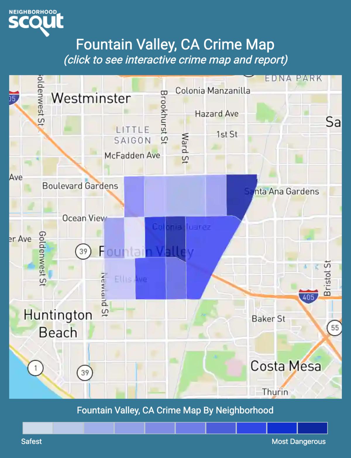 Fountain Valley, California crime map