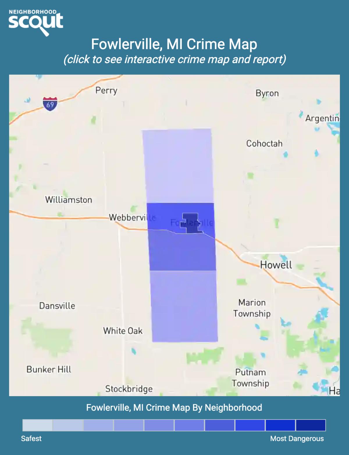 Fowlerville, Michigan crime map