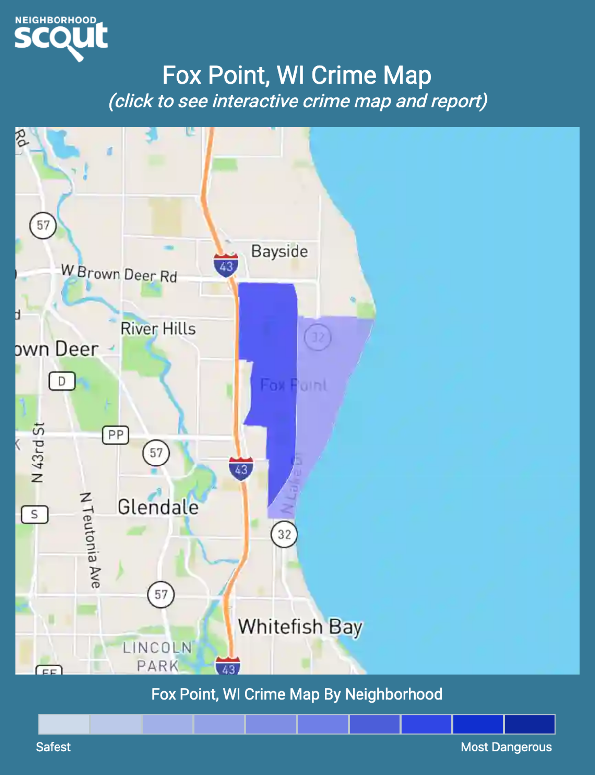 Fox Point, Wisconsin crime map