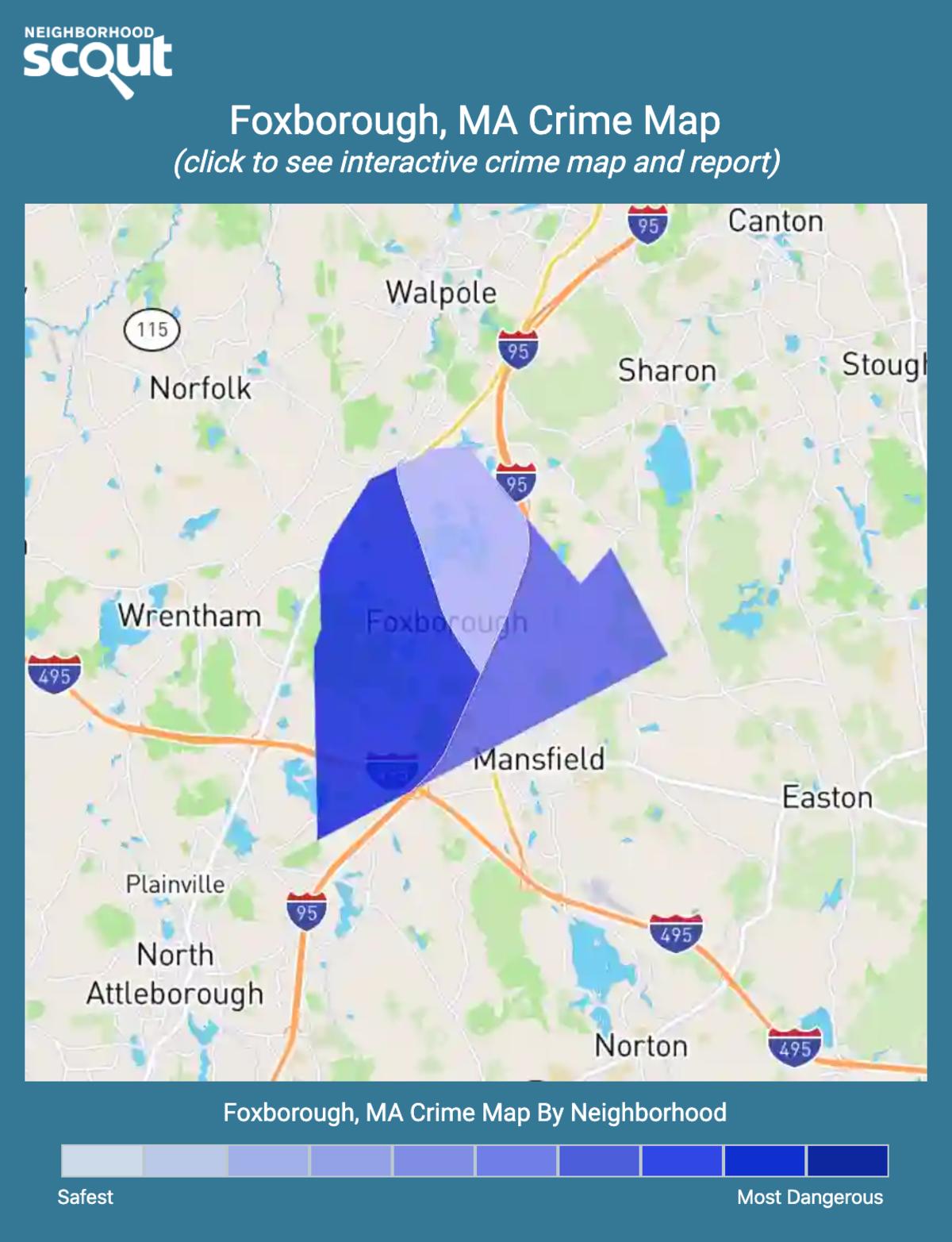 Foxborough, Massachusetts crime map