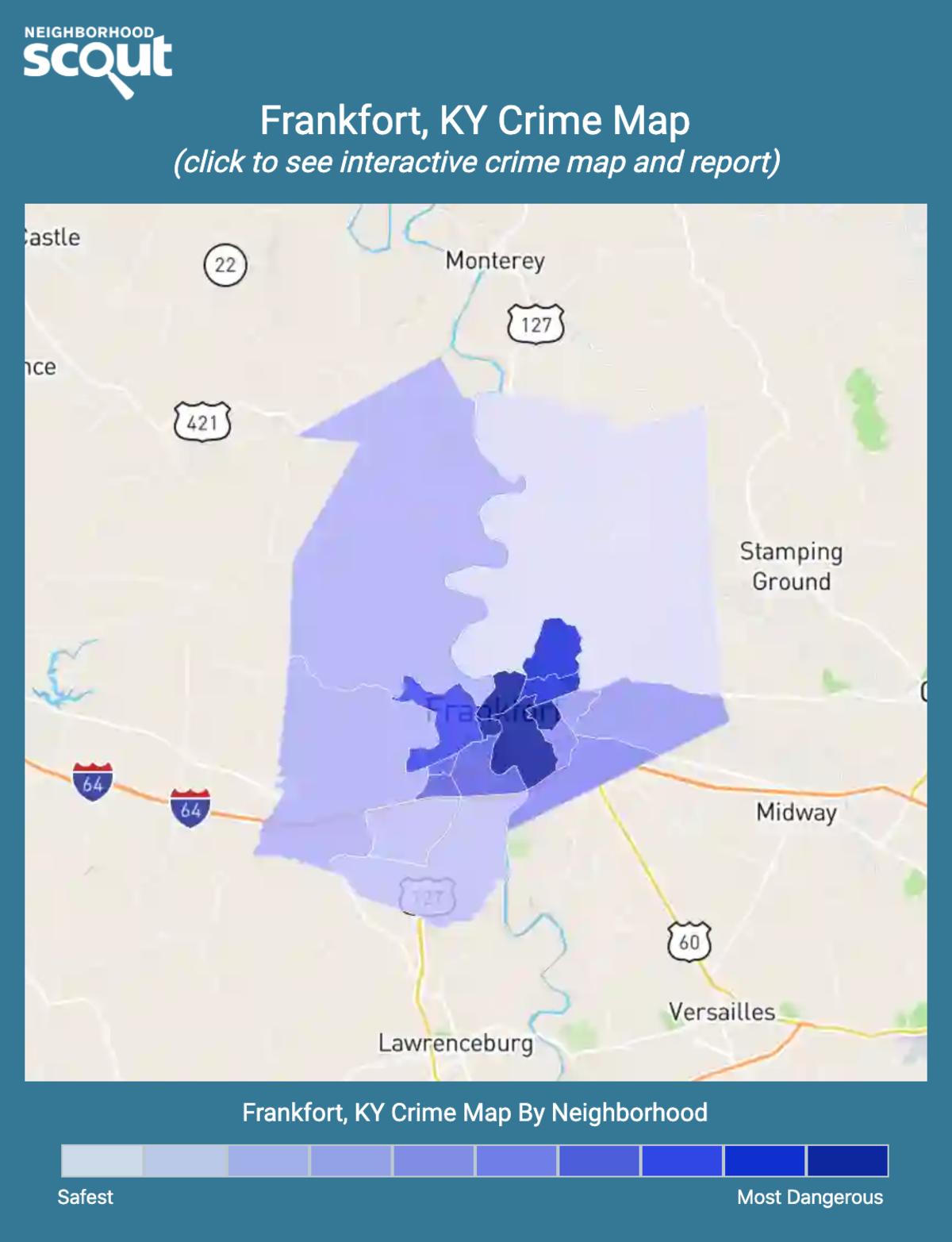 Frankfort, Kentucky crime map
