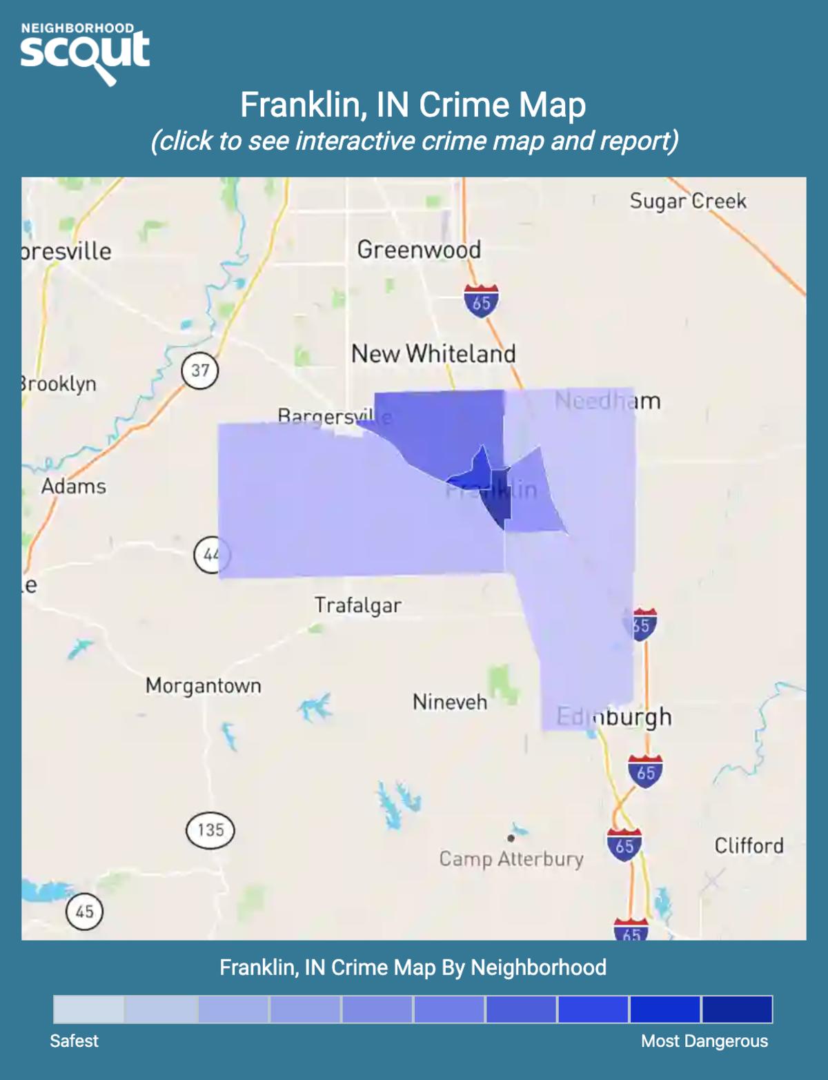 Franklin, Indiana crime map