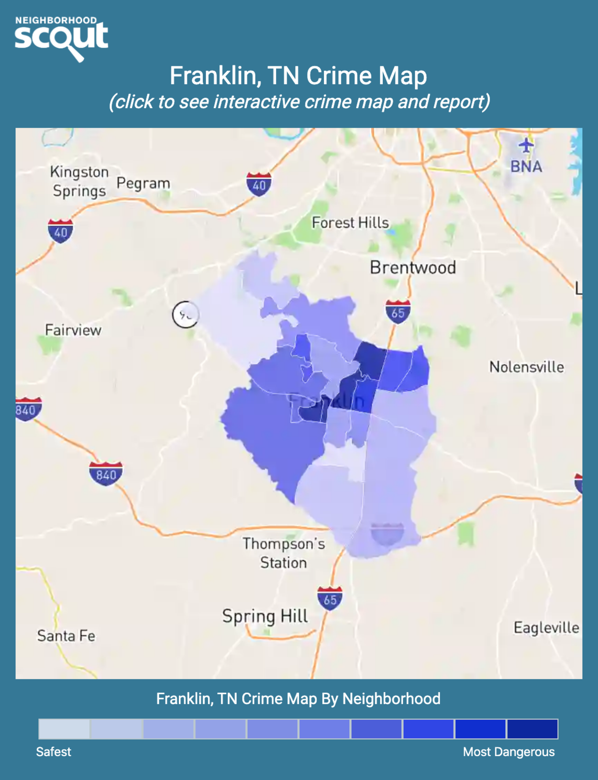 Franklin, Tennessee crime map