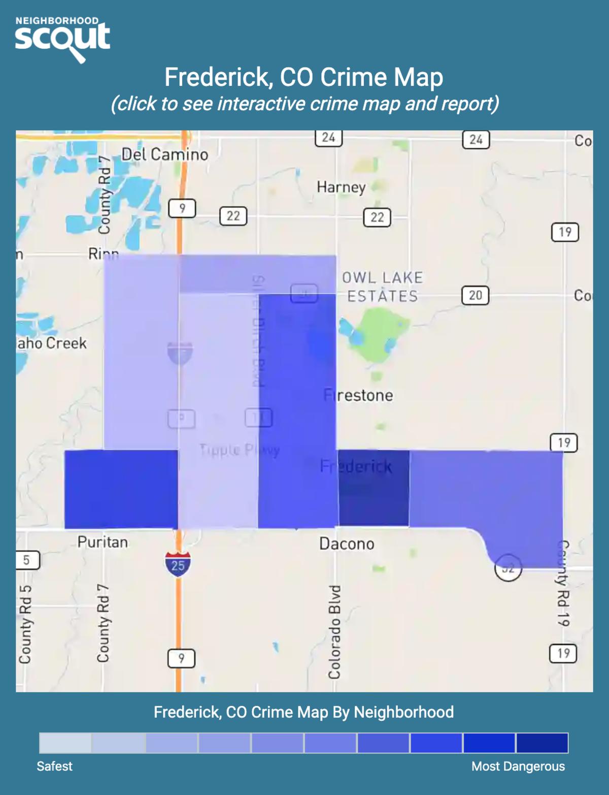 Frederick, Colorado crime map