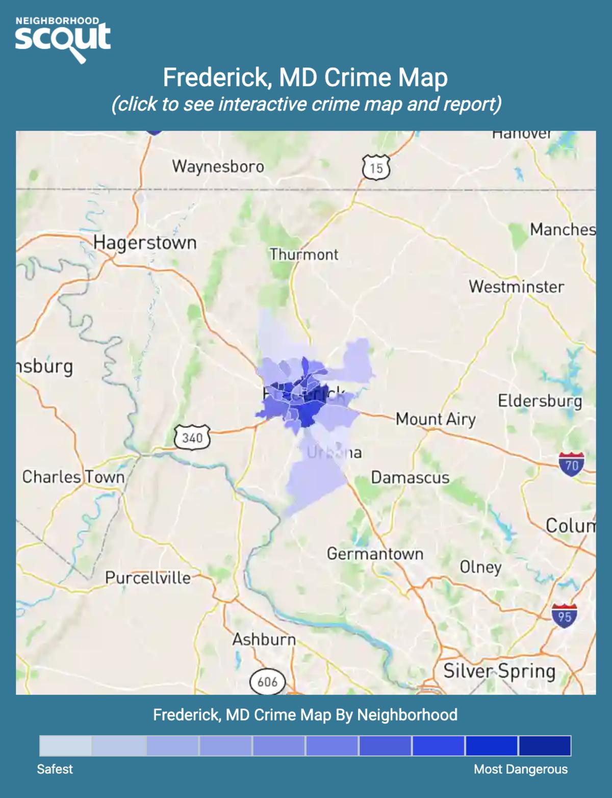 Frederick, Maryland crime map
