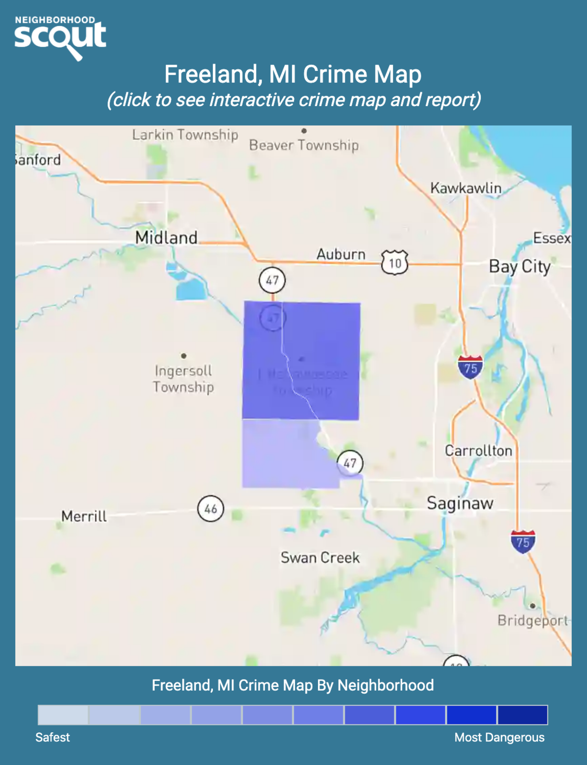 Freeland, Michigan crime map