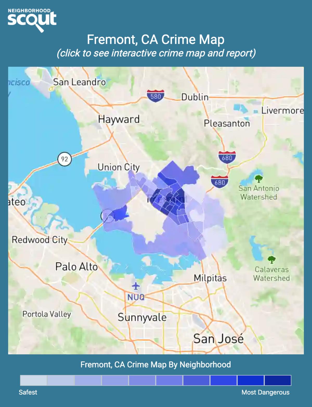 Fremont, California crime map
