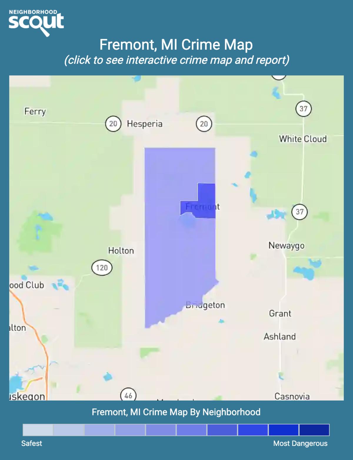 Fremont, Michigan crime map