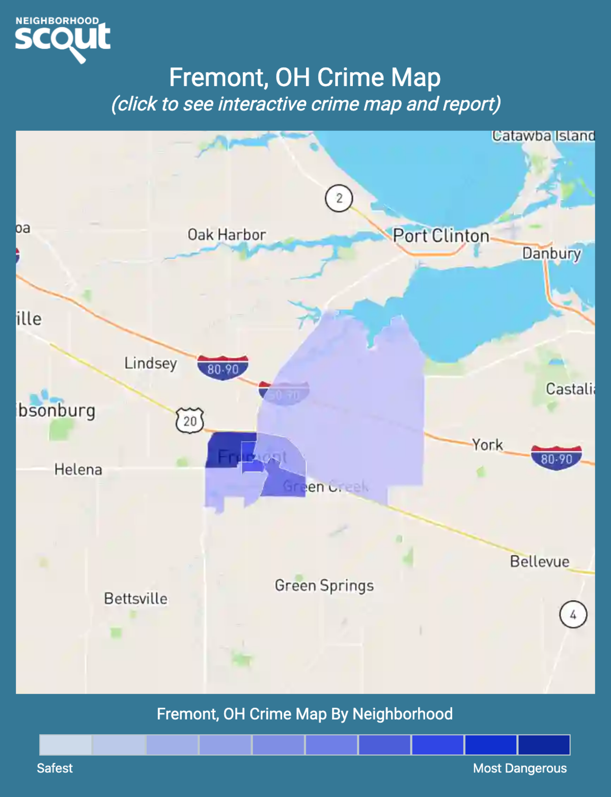 Fremont, Ohio crime map