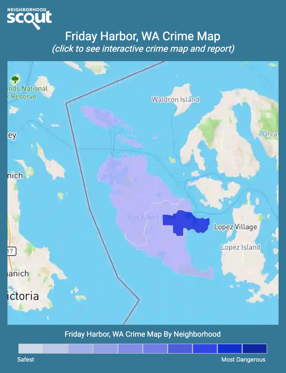Friday Harbor, Washington crime map