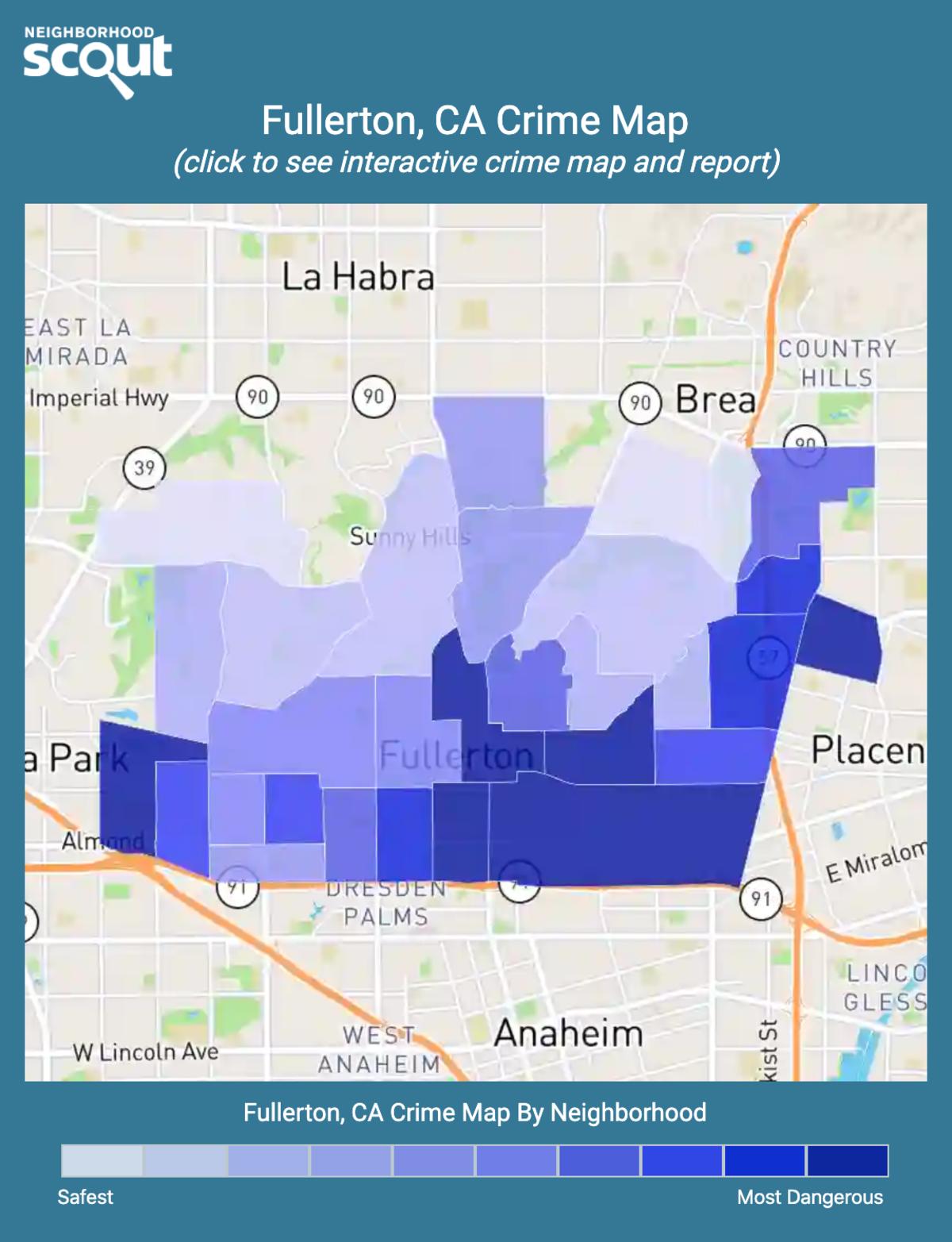 Fullerton, California crime map