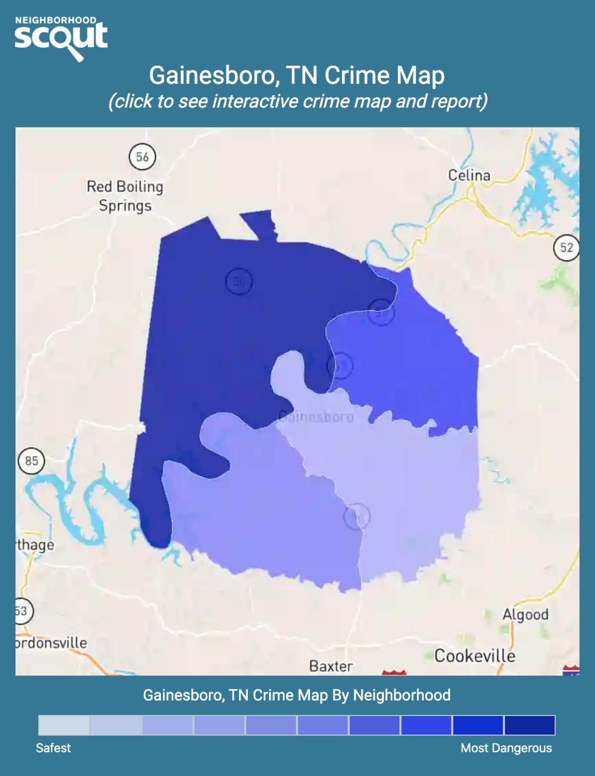 Gainesboro, Tennessee crime map