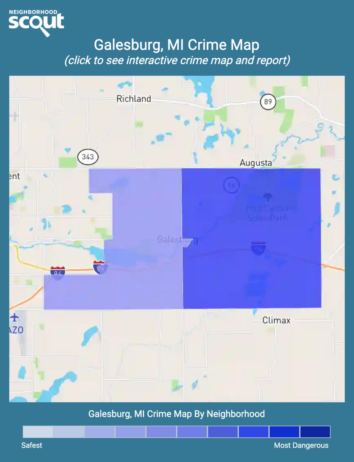 Galesburg, Michigan crime map