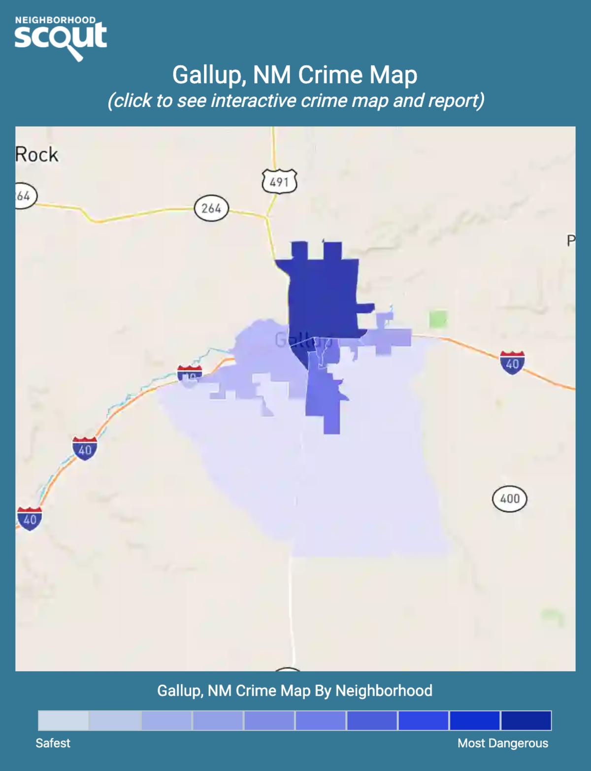 Gallup, New Mexico crime map
