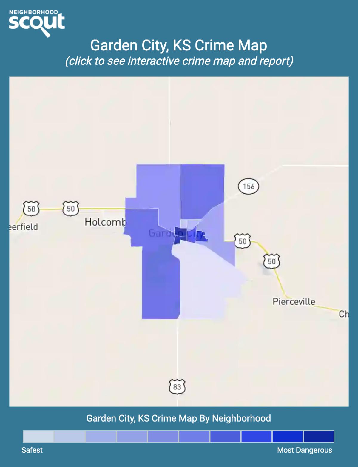 Garden City, Kansas crime map