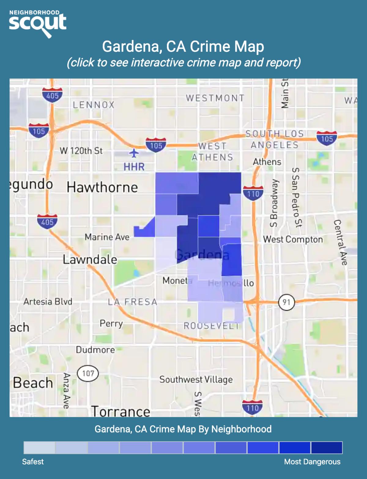 Gardena, California crime map