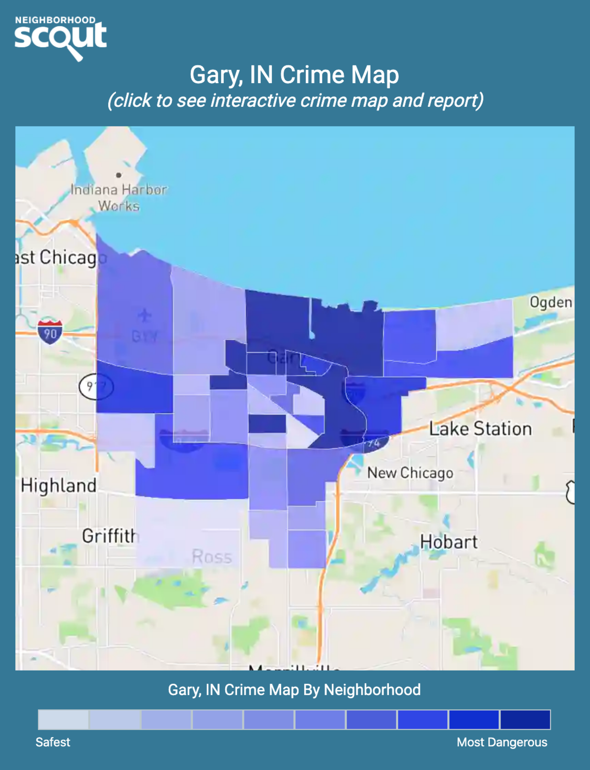 Gary, Indiana crime map