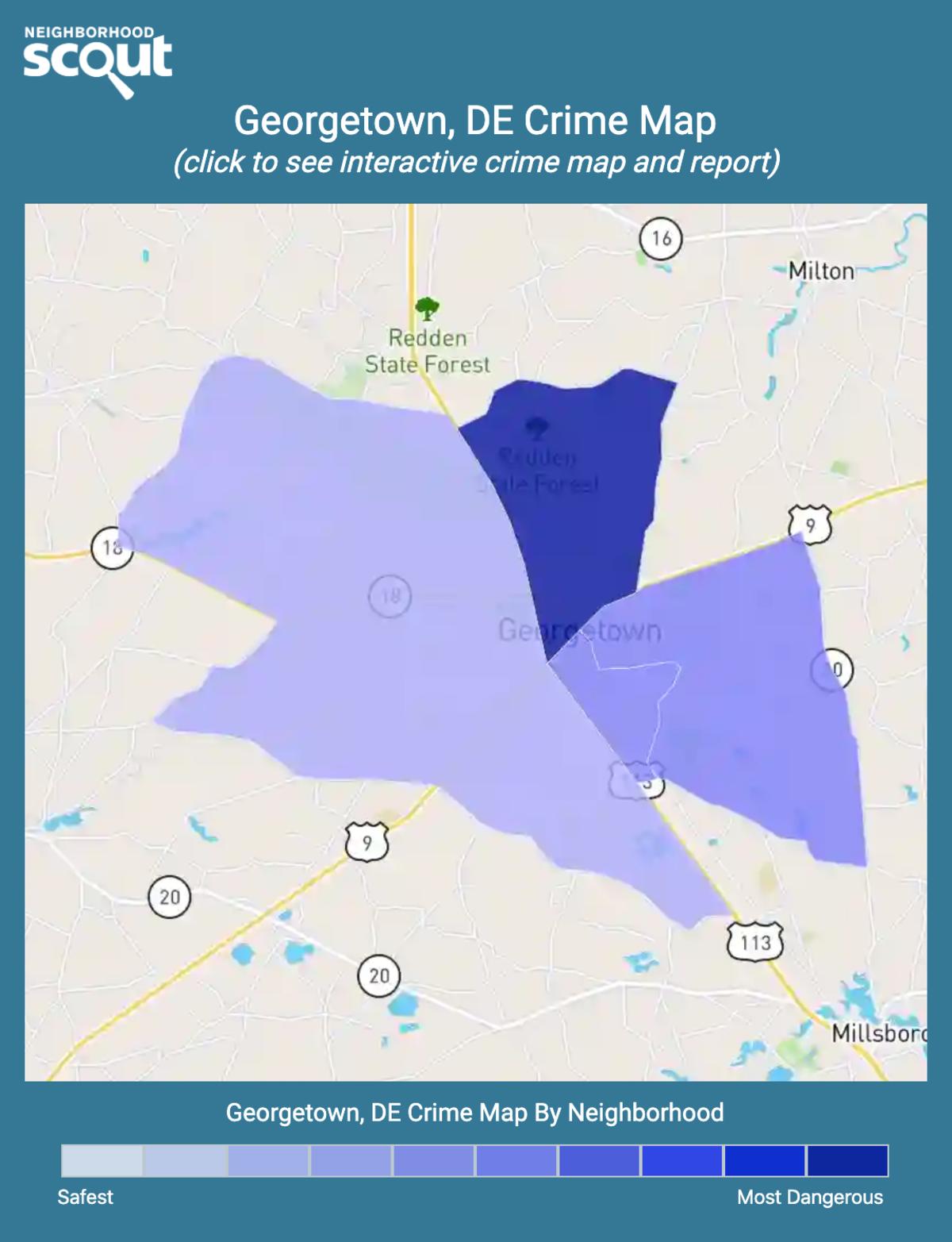 Georgetown, Delaware crime map