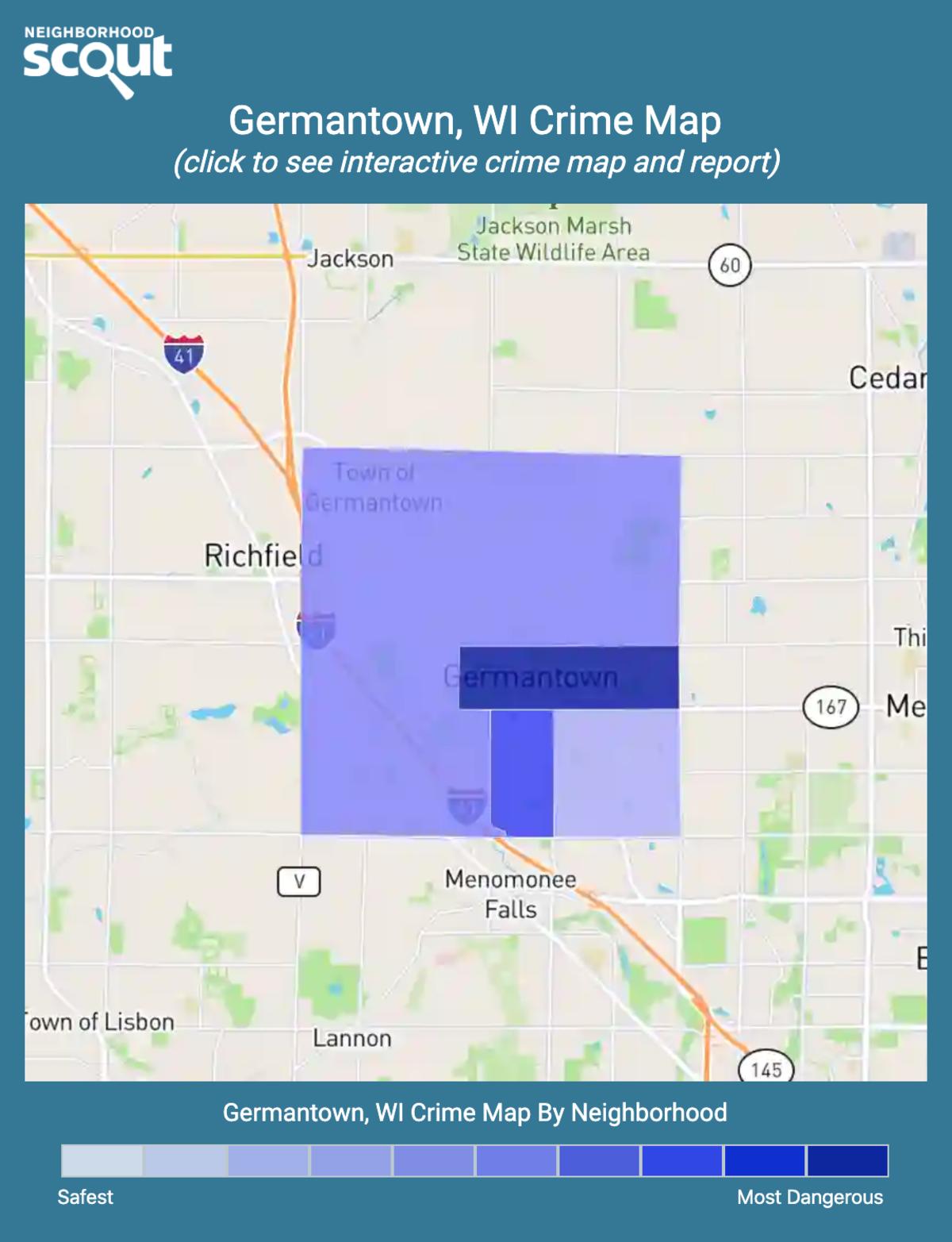 Germantown, Wisconsin crime map