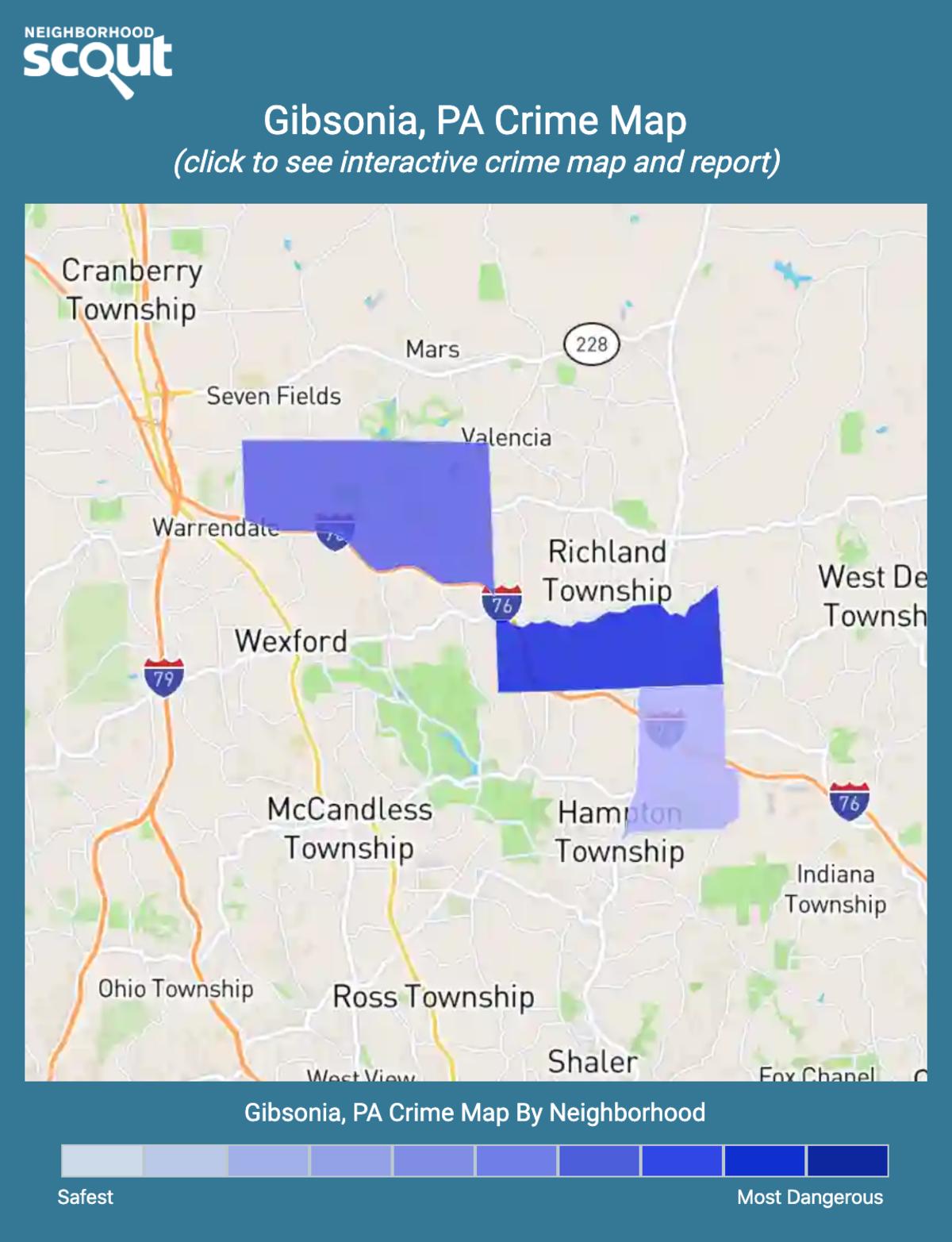 Gibsonia, Pennsylvania crime map