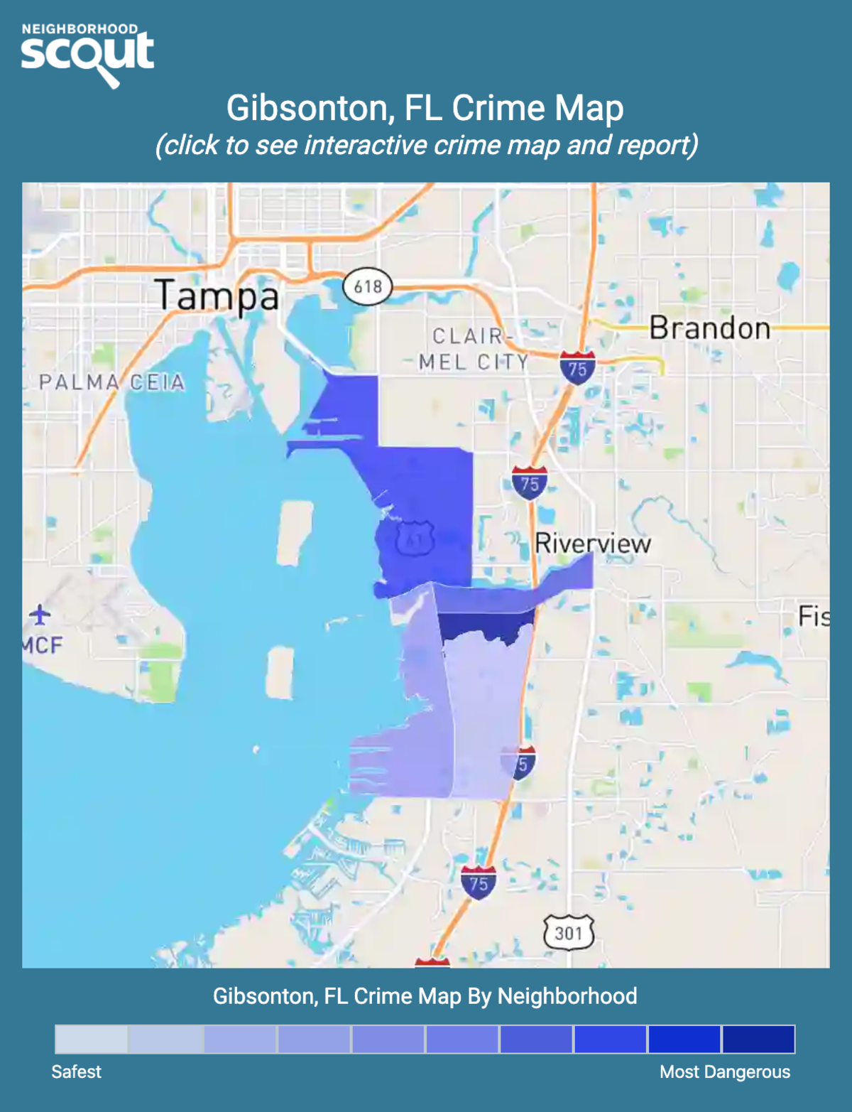 Gibsonton, Florida crime map