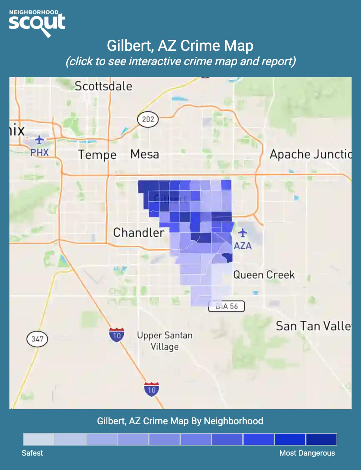 Gilbert, Arizona crime map