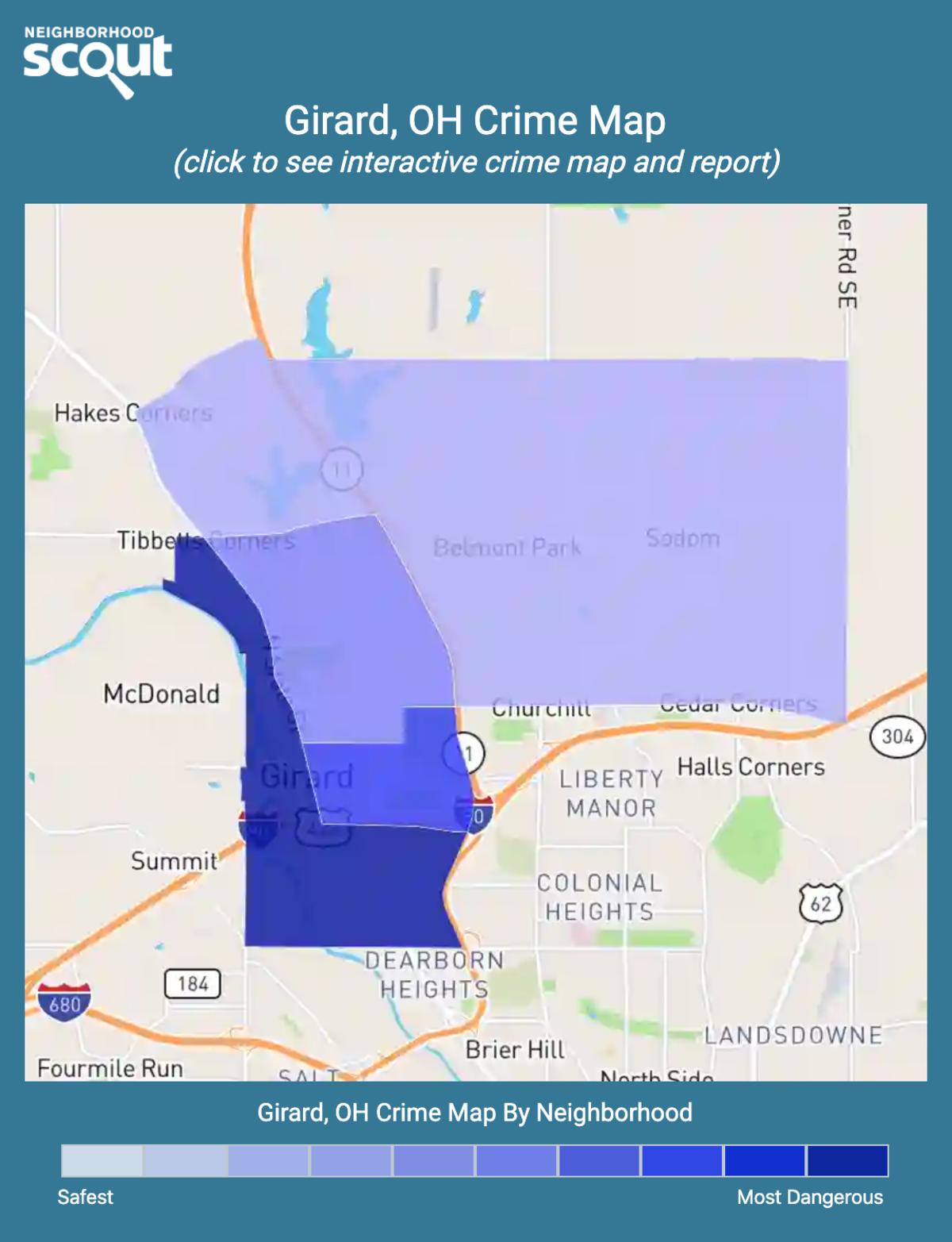 Girard, Ohio crime map