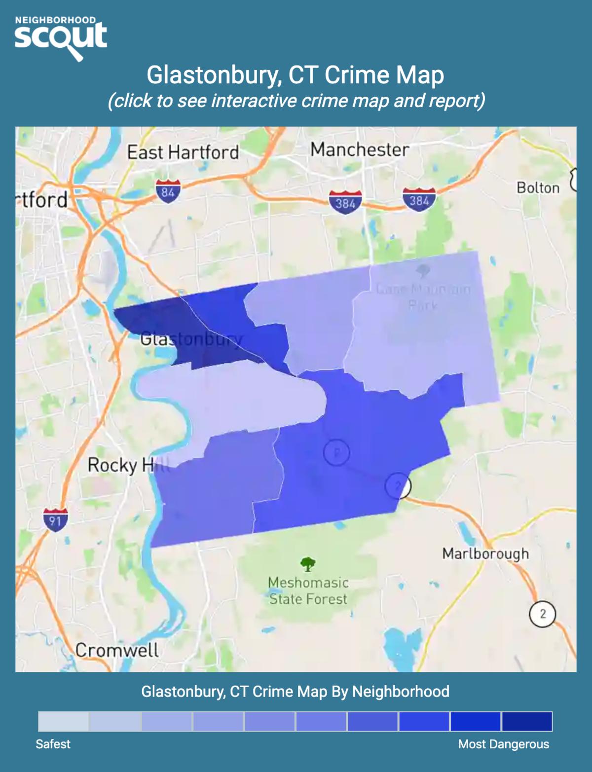 Glastonbury, Connecticut crime map