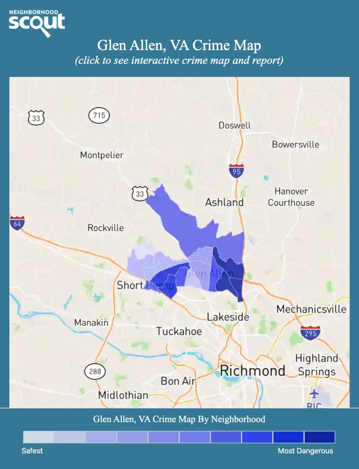 Glen Allen, Virginia crime map