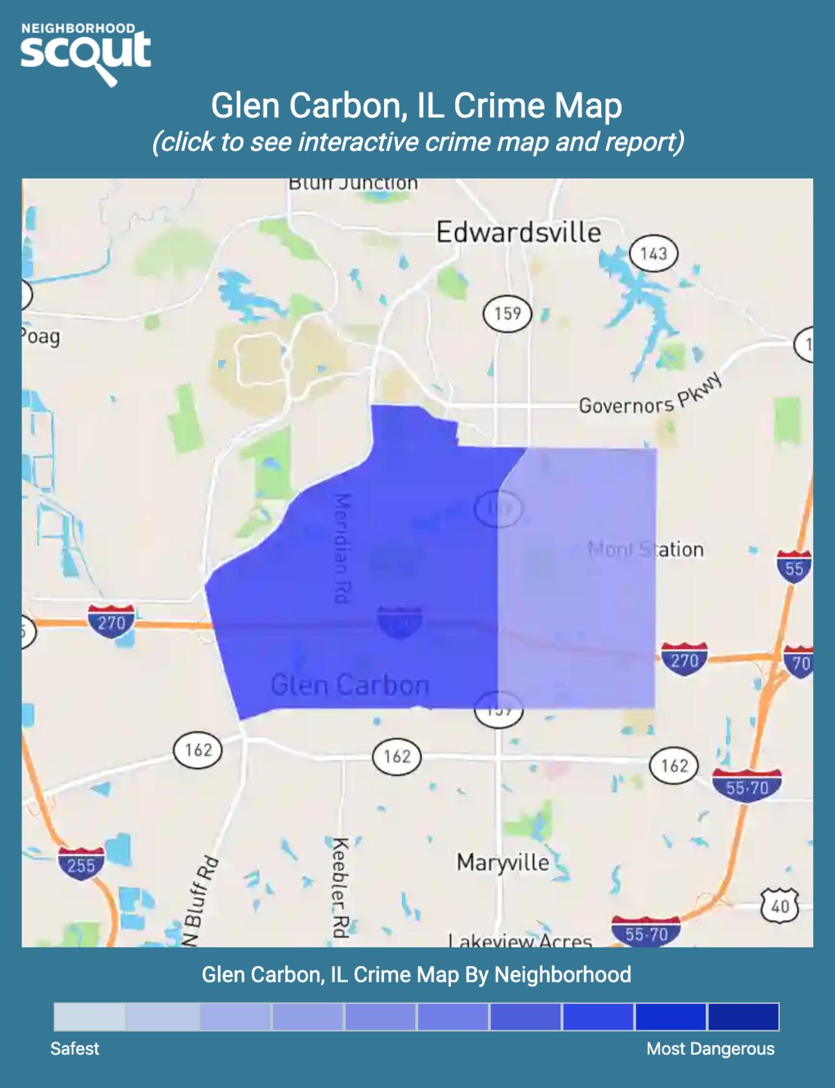 Glen Carbon, Illinois crime map
