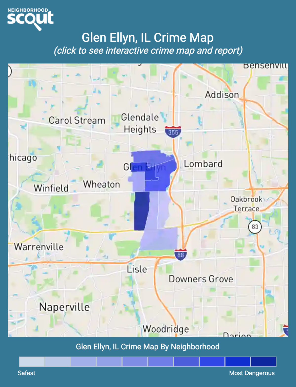 Glen Ellyn, Illinois crime map