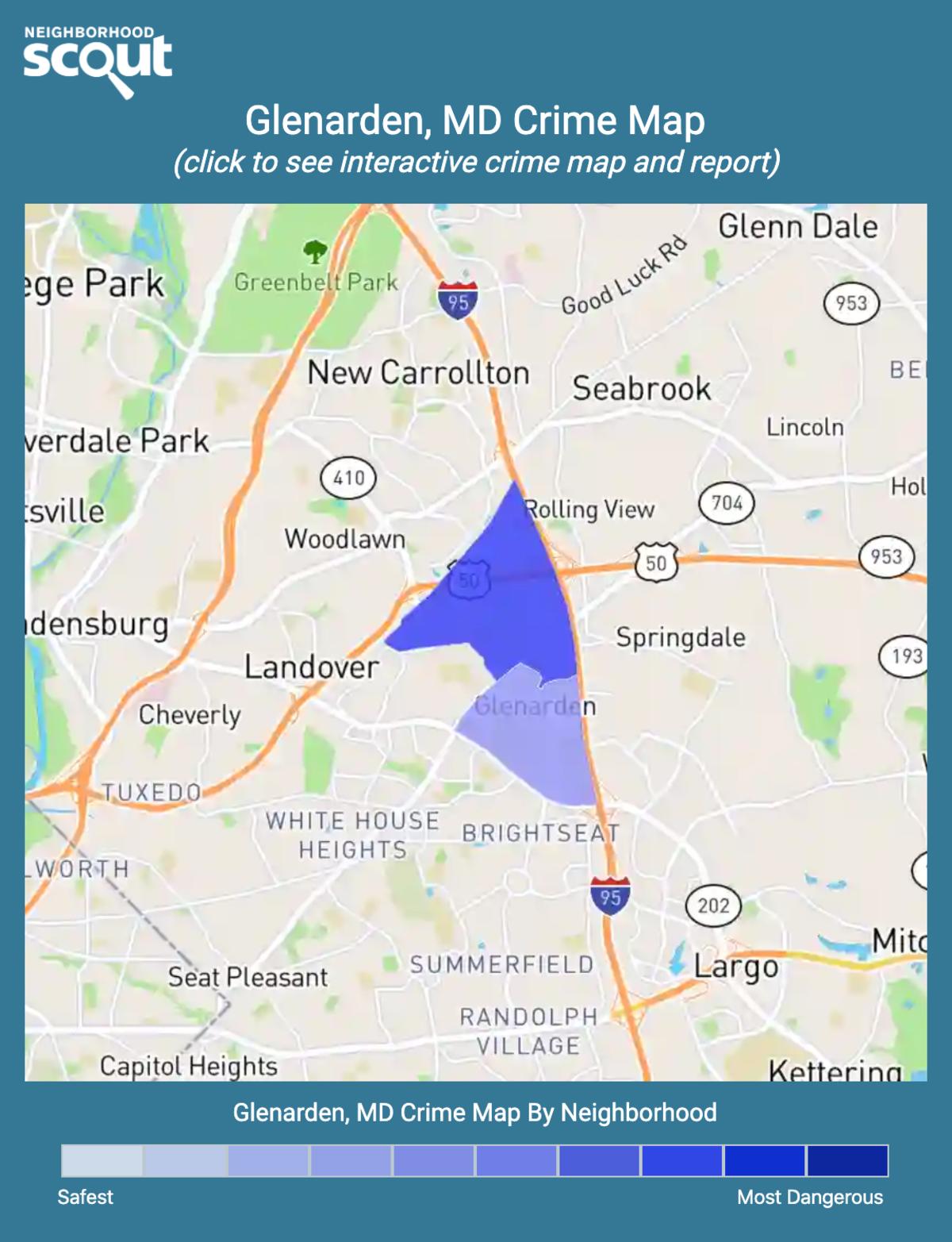 Glenarden, Maryland crime map