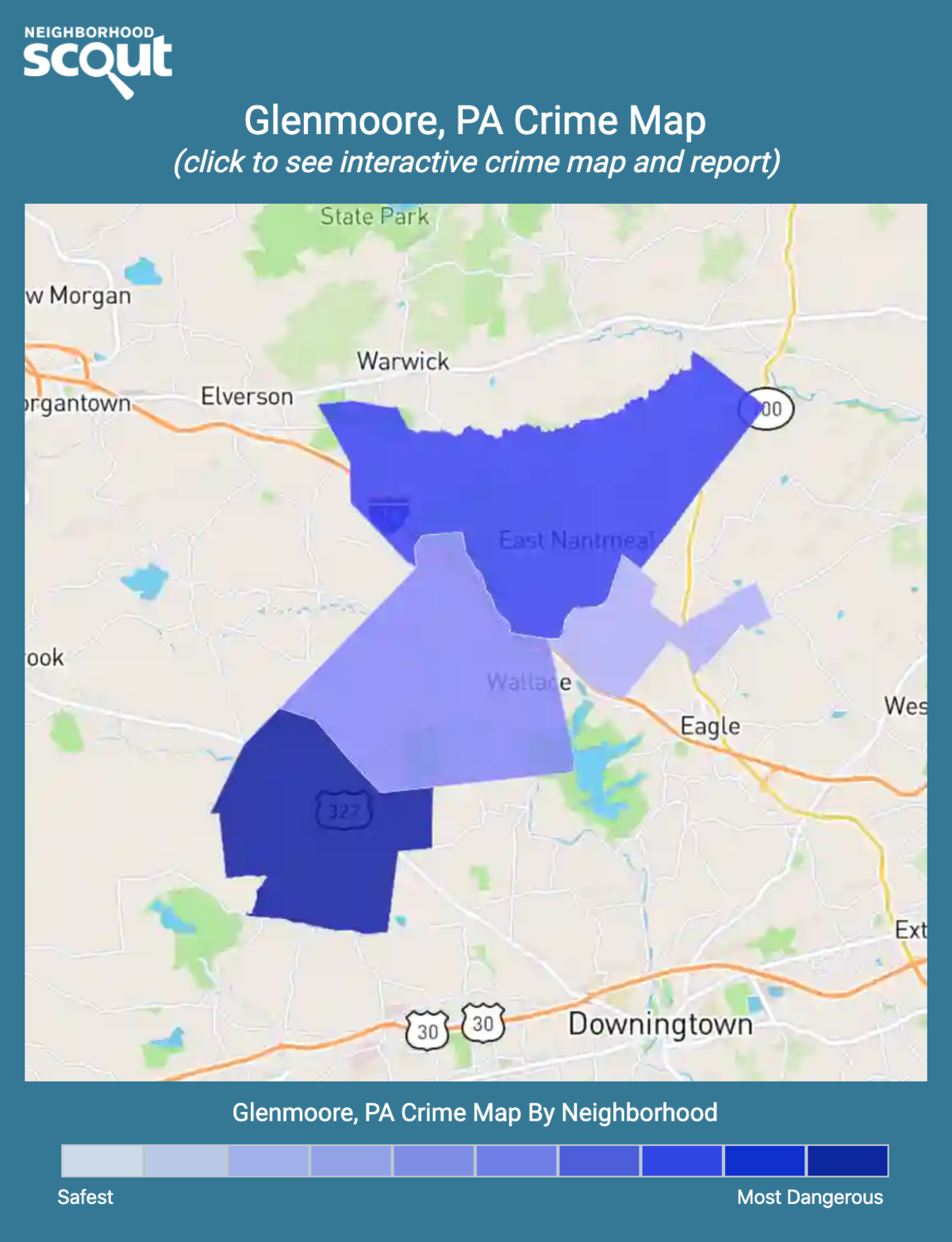 Glenmoore, Pennsylvania crime map