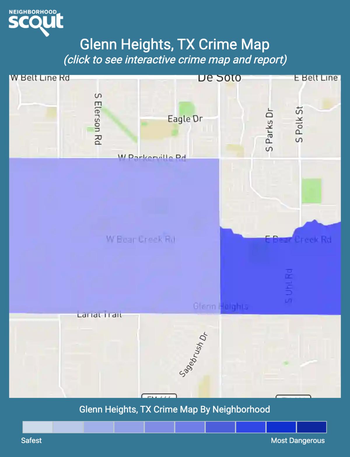 Glenn Heights, Texas crime map