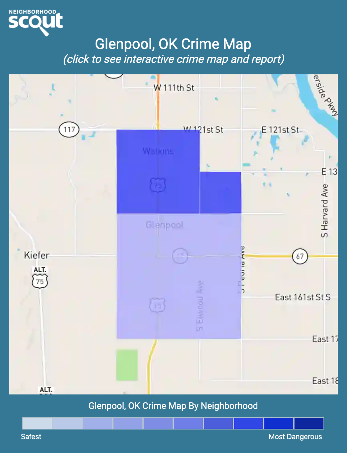 Glenpool, Oklahoma crime map