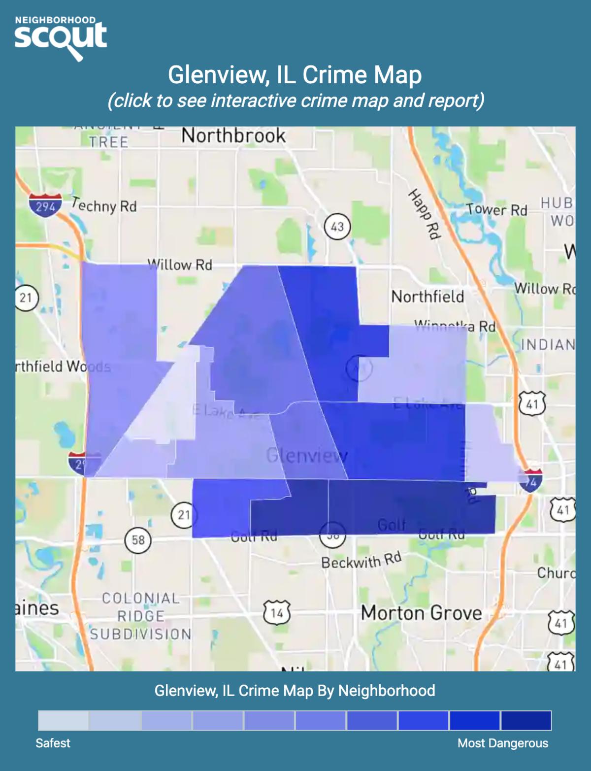 Glenview, Illinois crime map