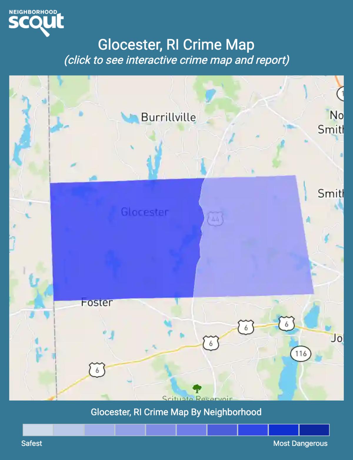Glocester, Rhode Island crime map