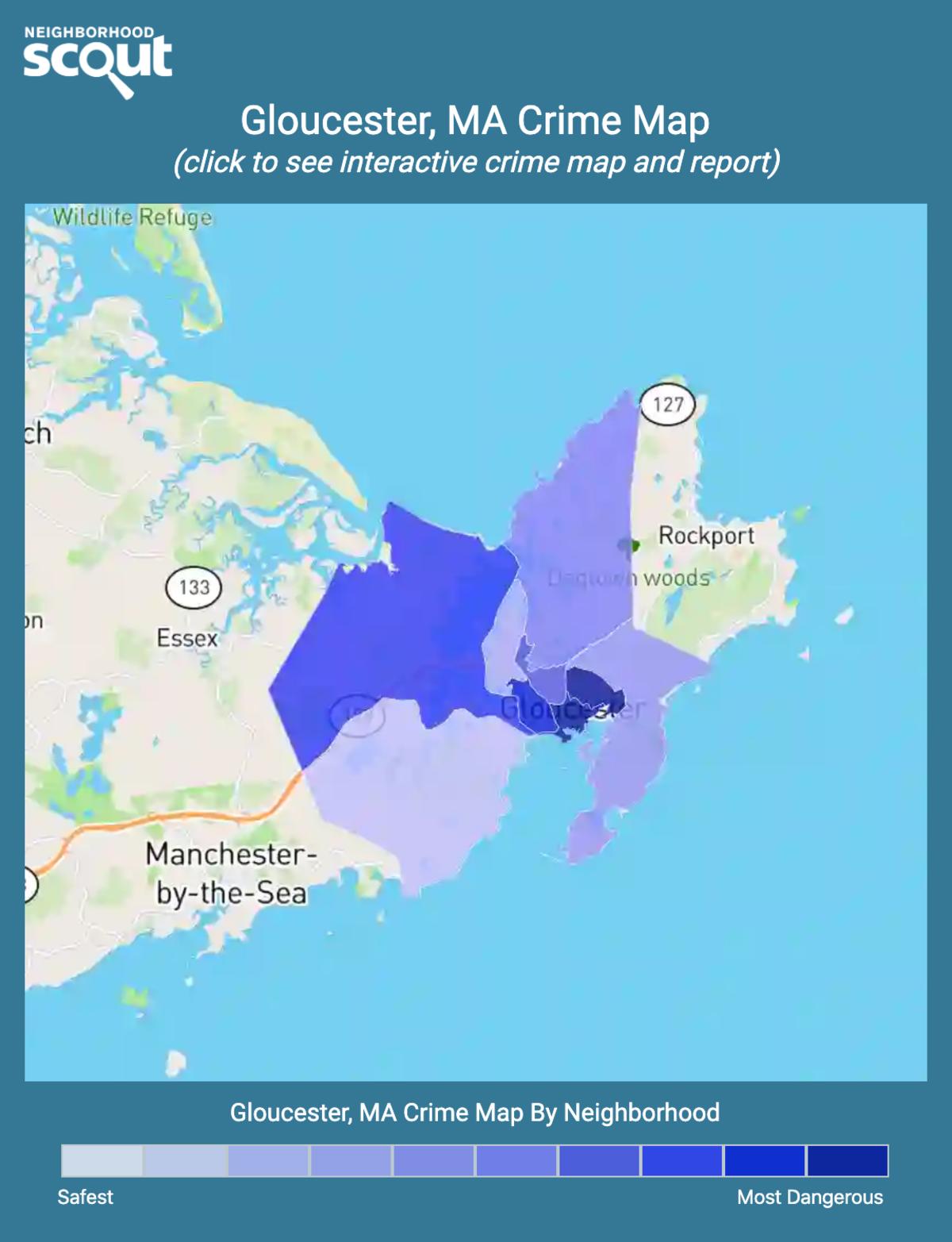 Gloucester, Massachusetts crime map